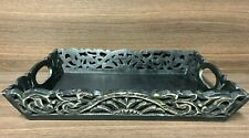 More details for antique style unusual carved / pierced tray