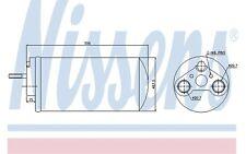 NISSENS Filtro deshidratante, aire acondicionado RENAULT OPEL NISSAN 95461