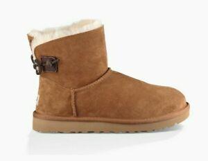UGG Australia Women's Boots Sheepskin Suede Leather Chestnut Sz.6M