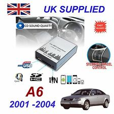 AUDI A6 MP3 SD USB CD AUX Input Audio Adapter Digital CD Changer Module 8 pin