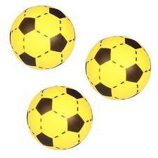 3x Simon SOFTBALL Schaumstoff Ball Fußball Softfußball Größe 20cm gelb