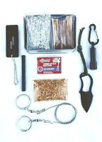 Survival Fire Starting Kit Fatwood Hand Cut in USA Ferro Rod Knife Matches Saw