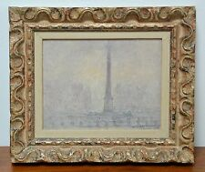 "1922 WILLIAM P. SILVA OIL PAINTING ~ ""FOG LONDON"" TRAFALGAR SQUARE~LISTED ARTIST"