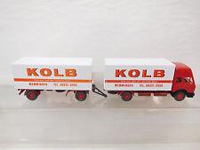 "eso-6036Wiking 1:87 Mercedes MB LKW mit Anhänger ""Kolb"""