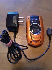Casio G'zOne Boulder Verizon Orange Flip Cell Phone