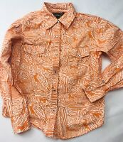 Cowgirl Hardware Girls Sz M Western Rockabilly Pearl Snap Wild Print L/S Country