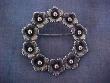 NE FROM NIELS ERIK FROM STERLING DENMARK PIN BROOCH CIRCLE SILVER MID-CENTURY