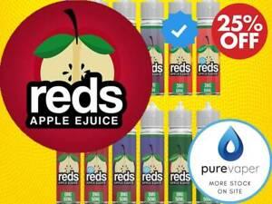 Reds Apple Juice 50 E Liquid Vape ml Sub Ohm Ecig 0mg Grape Watermelon Iced