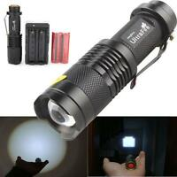 3000LM CREE XM-L T6 LED Flashlight Torch Lamp Light + 18650 Battery + Charger UK