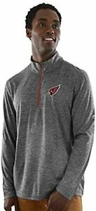 Arizona Cardinals Men's Intimidating Performance 1/2 Zip Top Jacket - Charcoal