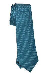 🔴 Designer  Mens Alfani Polyester silk Necktie Madison Dot Teal