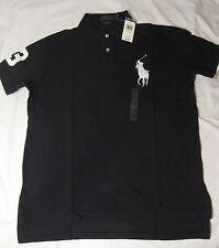 Polo Ralph Lauren Men's Custom-Fit Big Pony Mesh Polo Shirt NWT Navy or Black