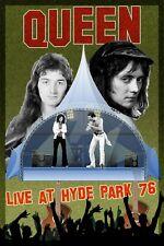 Queen at Hyde Park Uk Commemorative Concert Poster 1976 12x18
