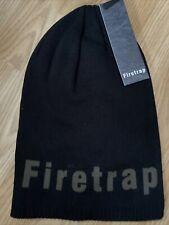 Firetrap New Mens Black Slouch Hat RRP £19.99