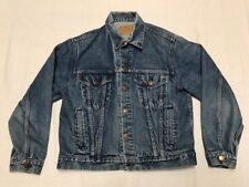 Vintage Roebucks Blue Denim Trucker Jacket Size 44 Regular J15