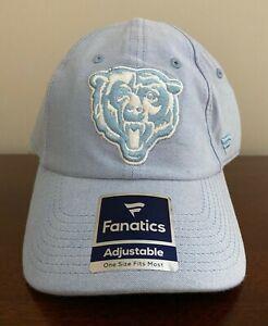 Chicago Bears Fanatics UNISEX Adjustable Chambray One Size Cap Hat NEW