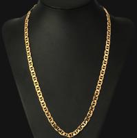 18k feine Goldkette Königskette vergoldet 60cm lang 4MM Damen Herren Geschenk