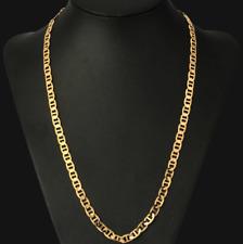 18k feine Goldkette Königskette vergoldet 60cm lang 6MM Damen Herren Geschenk