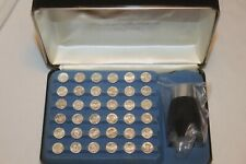 New ListingVintage Franklin Mint Presidential Mini Coin Set Sterling Silver 1st Edition