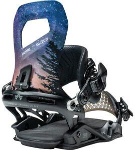 Rome Guild Snowboard Bindings, Womens M/L (US 7-10.5), Cosmic Black New 2021