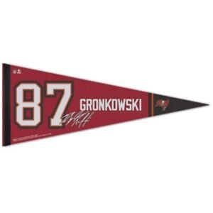 "ROB GRONKOWSKI #87 TAMPA BAY BUCCANEERS ROLL UP FELT PENNANT 12""x30"" WINCRAFT 🔥"