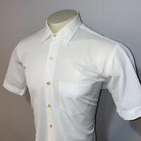 Vtg 50s 60s MAC PHERGUS Dress Shirt DATRILOOM Polyester Mid Century Mens 16.5
