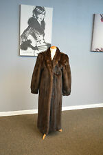 Mahogany Mink Fur Coat with notched collar. Pristine Condition! Ironed/Glazed!
