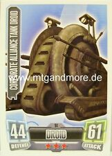 Corporate alliance tank droid #094 Force Attax série 2
