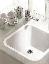 SCHOCK Quadro N-100 CRISTALAN Bright White 44x44x30cm weiß Einbaubecken Becken