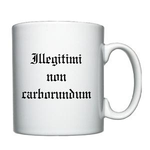 Illegitimi non carborundum (Don't let the b*st*rds) - Personalised Mug / Cup