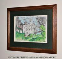 """Boone Hall Plantation""   ORIGINAL FINE ART American Artist GREGORY HUGH LENG"