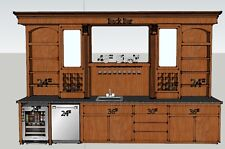 Bar Plans - Custom Design Service for the perfect home bar