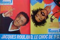 PUBLICITÉ 1981 EUROPE 1 JACQUES ROULAND LE CHOC DE 11H - ADVERTISING