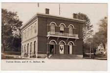 CUSTOM HOUSE & Post Office Belfast ME Antique RPPC Real Photo Postcard 1906
