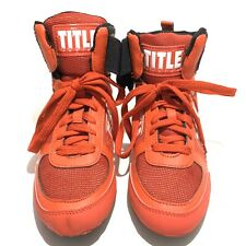 Boxing Shoes Title Men's Size 6 New Red With Black High Top Lightweight Velcro