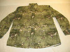 D725 - Woods & Water Outfitters - long sleeve button down duck shirt - Large