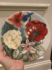 Vintage Gien Porcelain Dessert Plates - 8 5/8 Inches - Volupte Pattern - France
