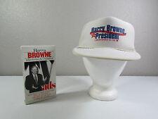 Vintage Harry Browne For President White Mesh Trucker Snapback Hat Cap + VHS