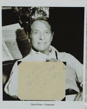 David Rose Songwriter Autograph Stripper Holiday for Strings Calypso Melody