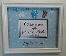 """New! Bible Verse Plaques/Signs """"CHILDREN ARE A GIFT"""" Boy Baby-Christian Gift $50"""