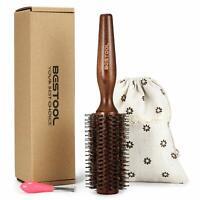 Bestool Boar Bristle Round Hair Brush With Nylon Pin Wooden Detangling Large Rou