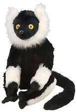 Wild Republic 12230 Stofftier Affe schwarz weiß Vari Lemur Chris Grösse (cm) 30