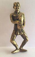 HOMME GROS ZIZI PHALLUS statuette amulette laiton pendentif Thaïlande Asie z57