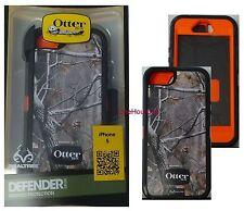 OtterBox Defender Apple iPhone 5 5S SE Realtree Camo Blazed Case Orange / Black