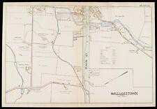 1904 BERKSHIRE COUNTY, MA, WILLIAMSTOWN, WEST CEMETERY, COPY PLAT ATLAS MAP