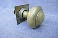 Antique Large Brass Center Door Pull Handle Back Plate+Original Bolt Victorian