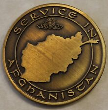 Afghanistan Veteran / Vet  Service in Afghanistan Military Challenge Coin