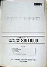 Korg SDD-1000 Numérique Delay Rack Montage Original Service Manuel, Schematics