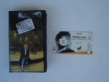 FRANCE GALL RARE VHS  LE TOUR DE FRANCE 88 AU ZÉNITH + BILLET DE CONCERT