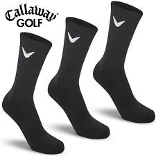 CALLAWAY OPTI-STRETCH® MENS GOLF COMFORT FIT SPORT SOCKS / DISCOUNT 3 PACK BLACK